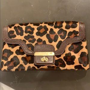 Abbi New York Leopard Print Clutch